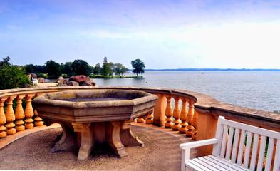 Blick vom Schloß auf den Schweriner See