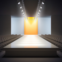 Fashion empty runway.