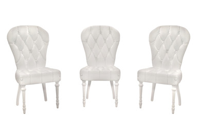 Blank armchairs on the white background. Chairs.