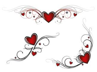 Herz, Liebe, love, Valentinstag, vector set