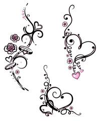 Herz, Liebe, love, Valentinstag, vector set, rosa