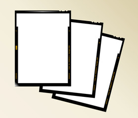 Wall Mural - large format film sheet negative set 4 x 5 inch, blank picture f