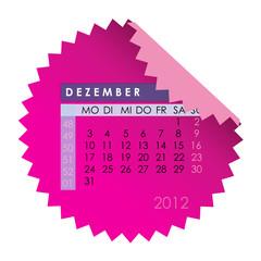 Monatskalender Dezember 2012