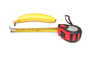 Banana and ruler