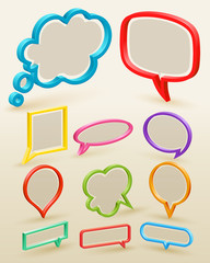 Wall Mural - Set of colorful bubbles for speech