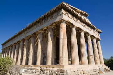 Ancient temple of Hephaestus in Athens
