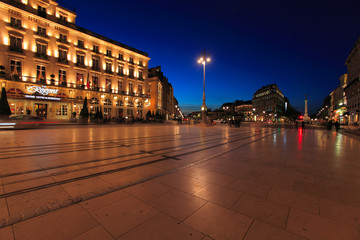 Night view  square of Grand Theater of Bordeaux