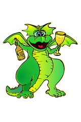 dragon celebrates