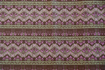 closeup pattern texture of general traditional thai style native