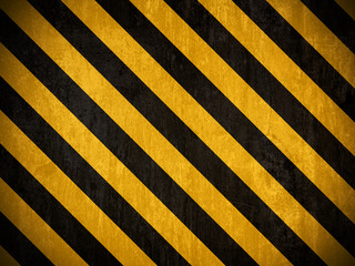 Traditional black and yellow warning background