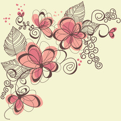 Photo Blinds Abstract Floral Vector flowers