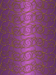 Gold pattern on the purple vintage background