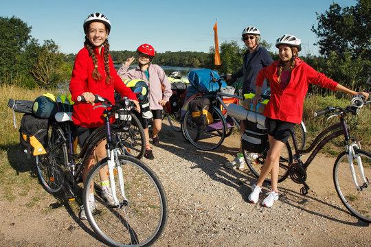 Randonnée famille , la Loire en vélo