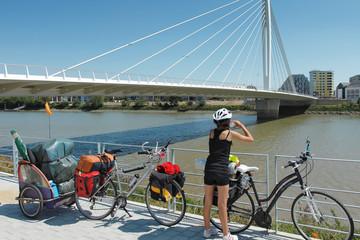 Nantes, La loire en vélo Fotomurales