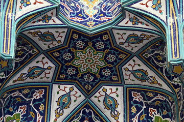 Oriental mosaic in a mosque, Sultanate of Oman
