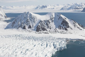 Arctic winter glacier landscape