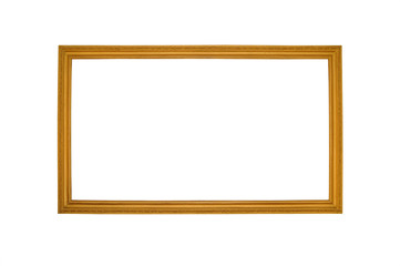 Old antique gold frame - white background