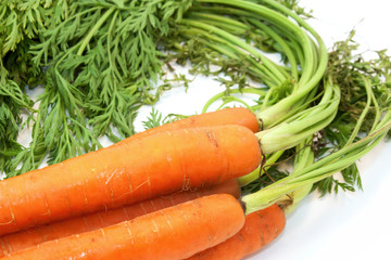Organic Carrots With Greens