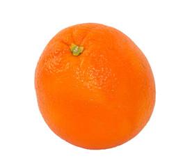 Single Navel Orange Isolated on White