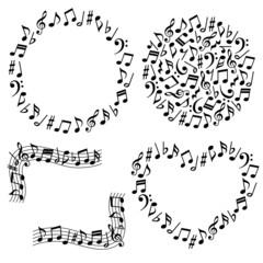 音符 音楽 広告用イラスト 手書き Adobe Stock でこのストックベクター