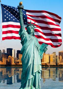 New York skyline, statue de la liberté