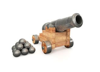 Kanone mit Kugeln