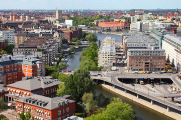 Stockholm, Sweden - aerial view