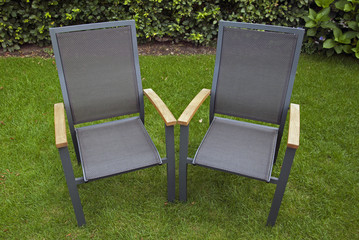 Two chairs in the garden