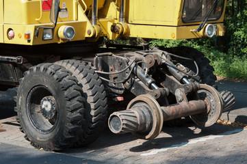 Bagger für Gleisbauarbeiten