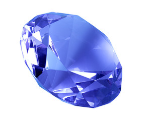 Singe blue crystal diamond
