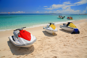 JETSKI ON THE BEACH