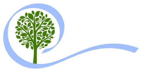 Vector tree emblem 5