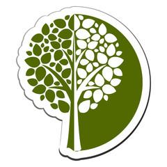 Vector tree emblem 1