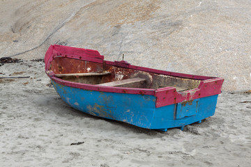 Rowing boat on the beach at Paternoster