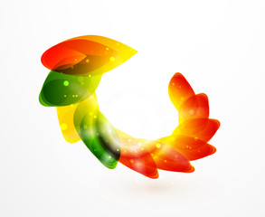 Vector color flower icons