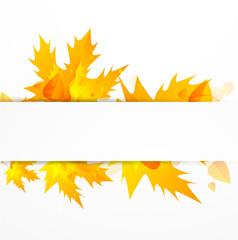 Vector orange leaves