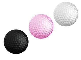 colourful Golf ball