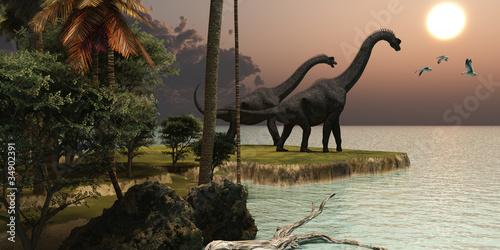 Brachiosaurus Sunset