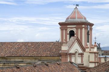 Tejado, teja, iglesia, basílica , reloj