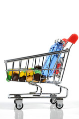 Shopping cart and medicine