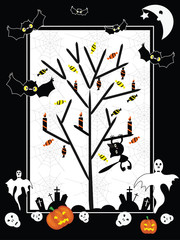 Vector Halloween  card.