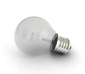 Light bulb on white surfase