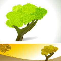 Abstract HAND Tree Background Concept