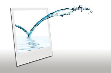 Jet d'eau polaroid