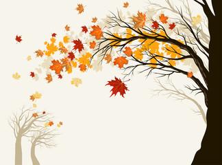 Wall Mural - Autumn tree
