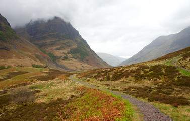Pass Of Glencoe - Overcast Day. Scotland's Highland. spring