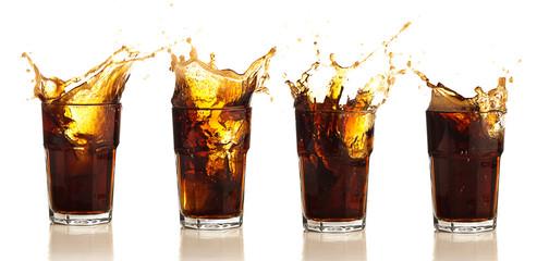 brown beverage splash