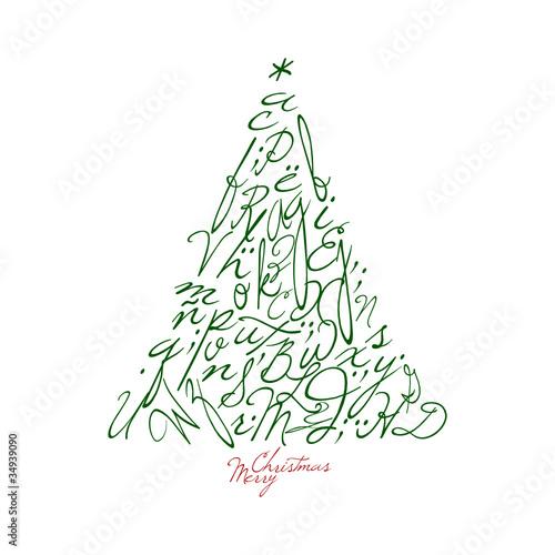 arbol de navidad decorativo con letras im genes de