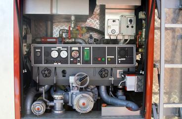 Inside of the firetruck