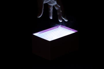 Hand and magic box